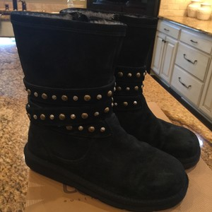 UGG Australia Black w/silver and matte gold studs Boots