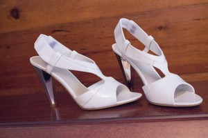 Nine West Mirror Leather White Formal