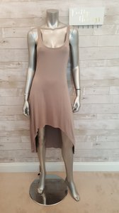 Feel the Piece short dress Tan Taupe Hi Lo Designer on Tradesy