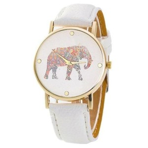 Other New White Elephant Wrist Watch Gold Tone J3010