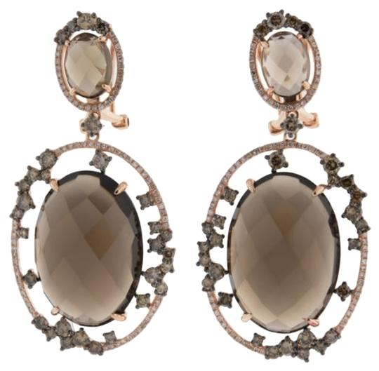 Other Sophisticated,Smokey,Topaz,2.85,Ct.,Diamond,Dangling,Earrings