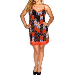 Guess short dress orange, multi-colored on Tradesy