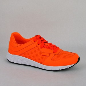 Gucci Orange Leather Lace-up Running Sneakers 8 G/ Us 8.5 369088 7623 Shoes