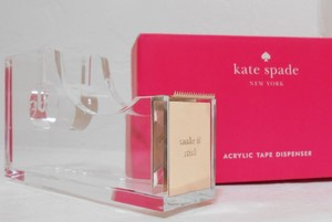 Kate Spade NWT Kate Spade New York Strike Gold Tape Dispenser Acrylic 14k plated