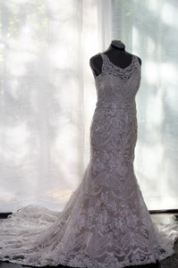Eddy K Eddy K Adalynn - Custom Altered Neckline Wedding Dress