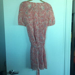 Tory Burch short dress Dress: red/coral/blue; slip is coral on Tradesy