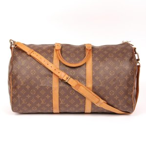 Louis Vuitton Keepall Duffle Brown Travel Bag