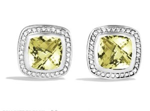 David Yurman David Yurman Albion Lemon Citrine Diamond Earrings