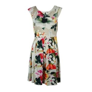 Tiana B. short dress MULTI Floral A-line Scoop Back on Tradesy