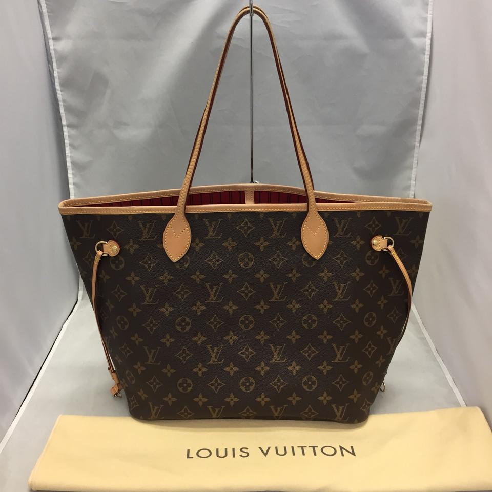 804dfc26a3a Louis Vuitton Neverfull Mm Monogram Cherry Brown Canvas Tote - Tradesy
