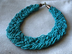 Other Braided Beaded Statement Necklace