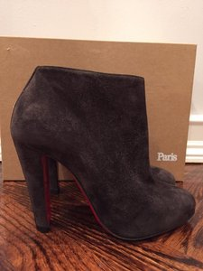Christian Louboutin Bobsleigh Stiletto Suede grey Boots
