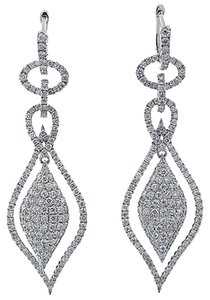 ,18k,White,Gold,2.791ct,Diamond,Earrings