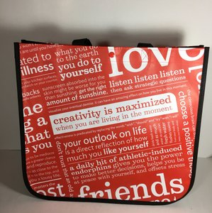 Lululemon Large Reusable Tote in Black Red