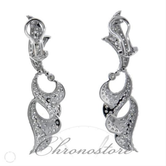 Other 18k,White,Gold,4.27ct,Diamond,Abstract,Earrings