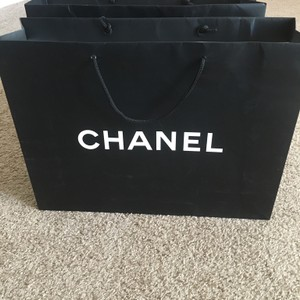 Chanel Two Extra Large Black Ping Tote Gift Bags