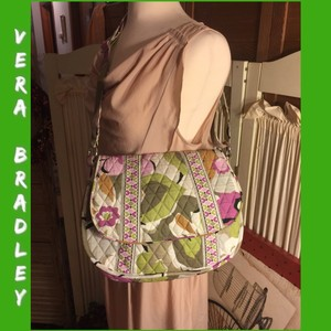 Vera Bradley Purple/Green/Cream Messenger Bag