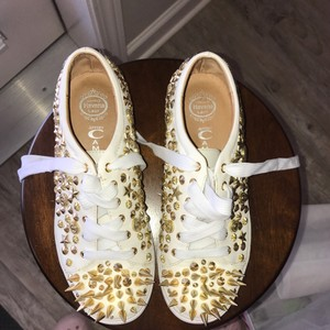 Jeffrey Campbell Sneakers White with gold spikes Athletic