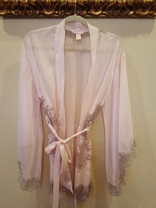 Victoria's Secret Victoria's Secret Silk Lace Pink robe