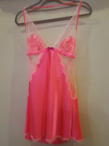 Victoria's Secret short dress HOT pink Vs Babydoll Lingerie on Tradesy