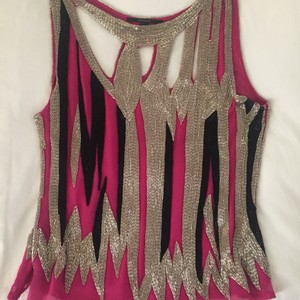 Barron Duquette Top Pink silver and black
