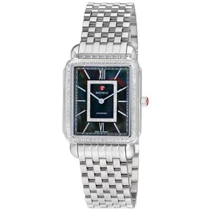 Michele NEW DECO II DIAMOND BLACK MOP DIAL WATCH MW06X01A1965