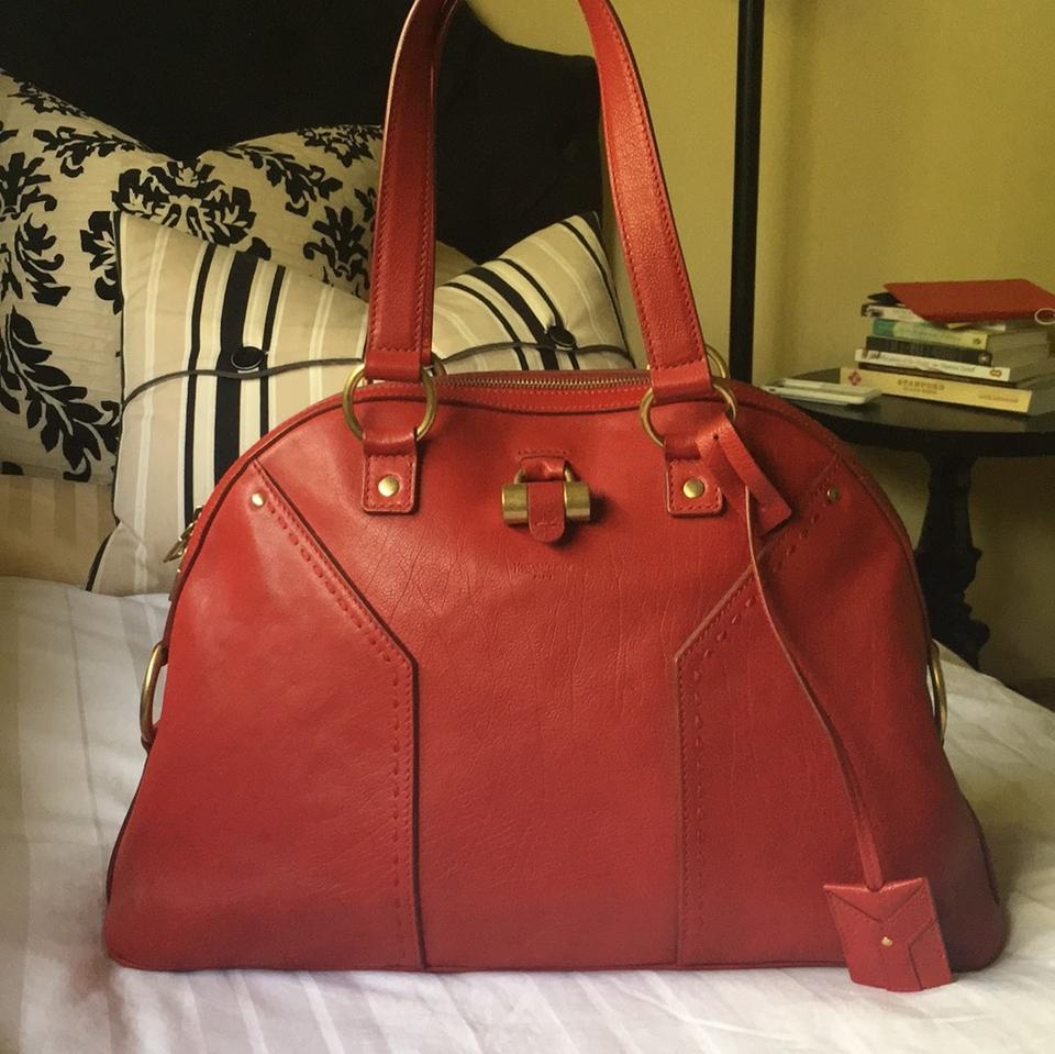 1dc60f66d61d Saint Laurent Muse Large Red Leather Satchel - Tradesy