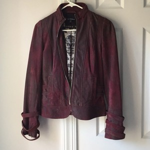Royal Underground Purple Leather Jacket