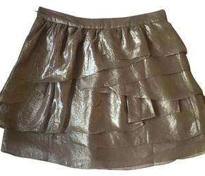 Club Monaco Mini Skirt Silver