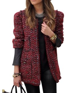 Zara Red black Blazer