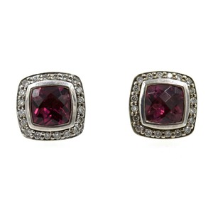 David Yurman David Yurman Petite Albion Pink Tourmaline Diamond Earrings