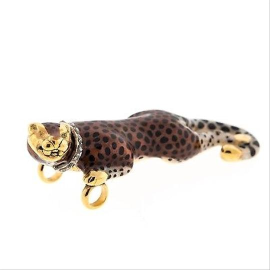 Leopard Leopard,Hand,Made,14k,Yellow,Gold,Ladies,Pendant,