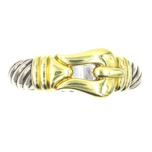 David Yurman David Yurman Large Buckle Bangle Bracelet 18 Karat Yellow Gold SS