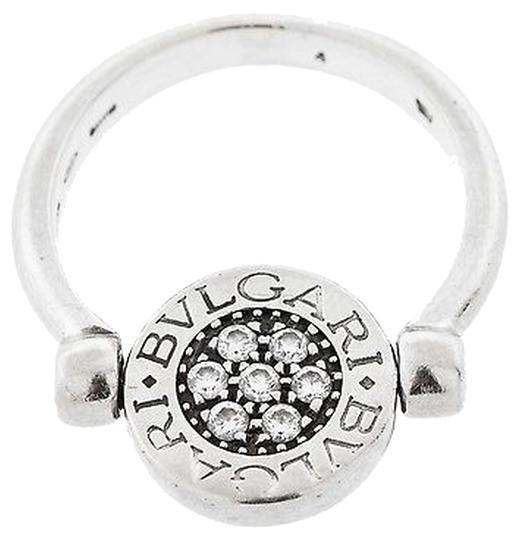 Bvglari Bvlgari,18k,White,Gold,And,Diamond,Rotating,Ring