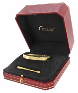 Cartier 2016 Unworn Cartier 18k Yellow Gold New Style Love Bangle Bracelet 17