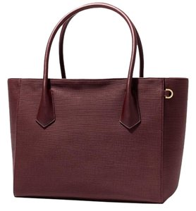 Dagne Dover Canvas Gold Hardware Tote in Oxblood