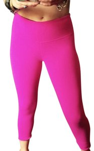 Lululemon Crop Hot Pink Reversible Leggings