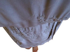 Club Monaco short dress taupe / light lavender Beaded Silk on Tradesy