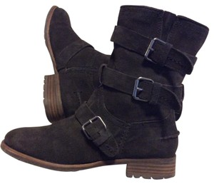 Dolce Vita Suede Bootie Ferin Belted Olive Green Boots