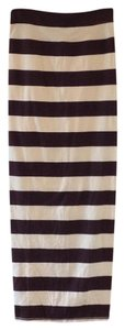 Free People Maxi Skirt Cream, plum striped