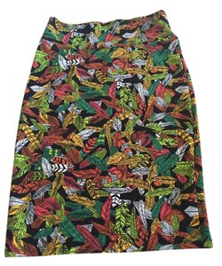 LuLaRoe #leaf #leaves #pencil #lularoe Skirt Multi feather print