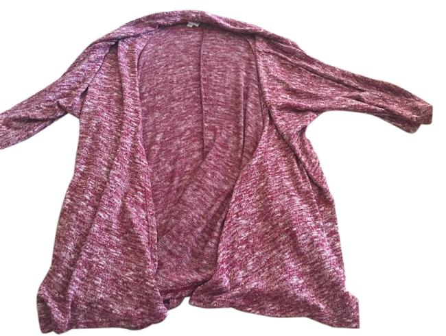 Item - Lindsay Red/Maroon with White Heathered Sweater