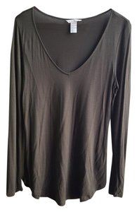 H&M Green Longsleeve V-neck Tunic