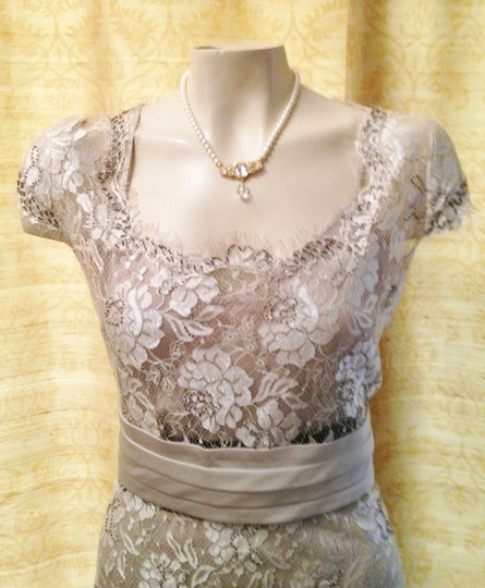 Calvin Klein Taupe Satin Lace 3 Piece Set Camisole Overlay