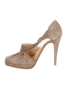 Christian Louboutin Suede Gray Pumps