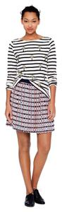 J.Crew Silk Pleated Mini Skirt White, Pink, Navy Blue