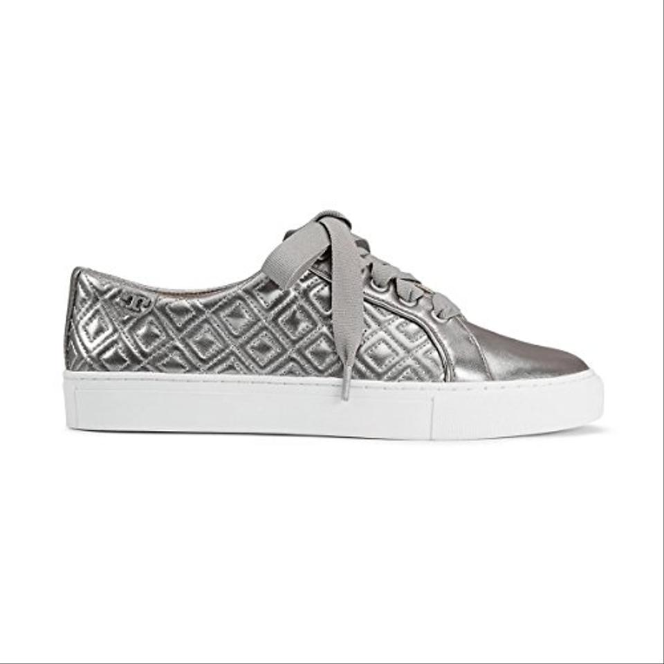 e4357fdaea889b Tory Burch Silver Marion Quilted Sneaker Sneakers Size US 7.5 ...