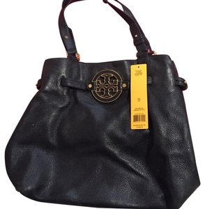 Tory Burch Leather Work Tote in black