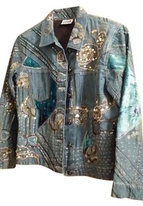Chico's Blue Denim Womens Jean Jacket