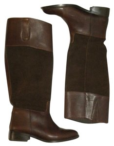 Steve Madden Riding Leather Knee High Equestrian Riding Brown Boots